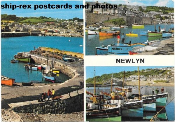 Newlyn, Cornwall, John Hinde multi-view postcard